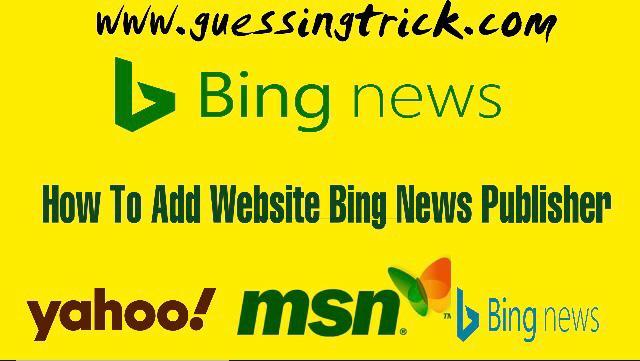 Bing News Pubhub Me Website Submit Kaise Kare